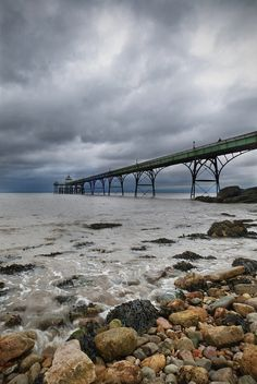 Storm Ascending over Clevedon Pier [Explored January North Somerset, Weekends Away, Great Britain, Bristol, Sea Shells, Countryside, Places Ive Been, Coastal, Beautiful Places