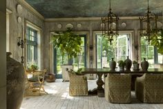 belgian style -love the ceiling floor and walls