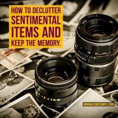 How to declutter sentimental items Minimalismissimple.com