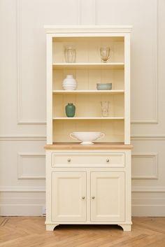 belvoir 92cm open rack dresser one drawer two door