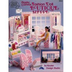 Fashion doll boutique shoppe plastic canvas 3094 kooler design