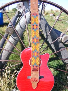 Custom Made Beaded Guitar Straps by WippcoLLC on Etsy