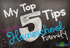 My Top 5 Tips for Every Homeschool Family by Raising Clovers - Check out this encouraging post & video to help inspire you in your homeschool adventure. I just finished speaking at a homeschool convention & wanted to share some of the tips I was giving to all the homeschool families with you! http://www.raisingclovers.com/2015/07/23/5-tips-for-every-homeschool-family/