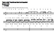 """Rock & Roll"" (Led Zeppelin) - Outro Drum Solo Notation"