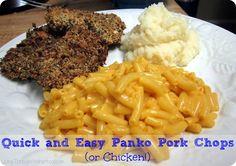 Quick and Easy Panko Pork Chops Recipe Panko Pork Chop Recipe, Pork Chop Recipes, Meat Recipes, Recipies, Tasty Bites, Supper Recipes, Chops Recipe, Pork Chops, I Love Food