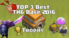 Clash of Clans | Top 3 TH6 Trophy Base | Best Town Hall 6 Trophy Base Defence 2016. This is New Best top 3 Trophy Base Design created in 2016 with Air Sweeper. Stay tuned for best base layout designs :)