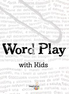 fun ways for kids to play with words