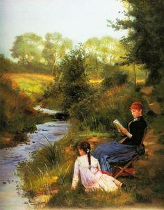 "poboh: "" Summer day, Charles Louis Baugniet. Belgian (1814-1886) """