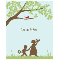 Sweet sibling silhouettes... for play room/shared room someday?
