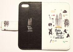 New York(ブラック) maw 手帳型スマホケース iPhoneシリーズすべて対応/アンドロイド各種対応|iPhoneケース・カバー|NUMBER INFINITE|ハンドメイド通販・販売のCreema