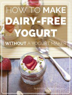 How To Make Dairy-Free Yogurt Without A Yogurt Maker | holsitichealthnaturally.com