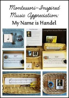 Classical music - Montessori-inspired activities to go with the Maestro Classics title My Name Is Handel (or with any study of composer George Frideric Handel). Also includes ideas for hands-on music activities that work for any music theme. Montessori Homeschool, Montessori Activities, Homeschooling, Montessori Trays, Montessori Elementary, Montessori Classroom, Preschool Music, Music Activities, Holiday Activities
