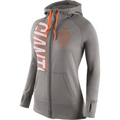 Women's San Francisco Giants Nike Gray Obsessed Full-Zip Performance Hoodie