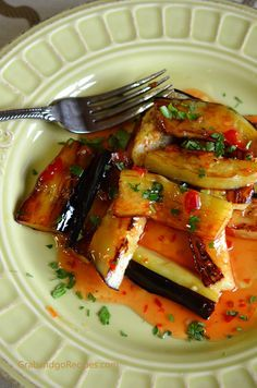 Eggplant with Sweet and Chili Garlic Sauce - GrabandgoRecipes.com Russian Home Cooking Recipes