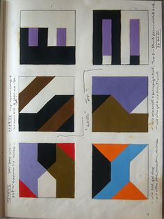 Page from Composition Book 2, Frederick Hammersley, 1980. Artwork © Frederick Hammersley Foundation