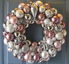DIY Idea: recycled and vintage xmas ornament wreaths - The ...
