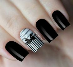 Easy Bow Tie Nail Art Tutorial is part of nails - There are plenty of ways to go about applying a manicure a slick of clear polish, a dash of matte color, a subtle hint of glitter Your nails can become Fabulous Nails, Gorgeous Nails, Bow Tie Nails, Minion Nail Art, Feet Nail Design, Cute Toe Nails, Owl Nails, Funky Nail Art, Gold Glitter Nails