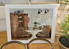 Don't forget! When you stop by the shop to check out the beautiful #MagnoliaHome pieces take a minute to surf through the #catalog to see a variety of Jo's pieces that you can have ordered & delivered right to Potentially Chic! #SeeYouSoon! #homedecor #magnolia #JoannaGaines