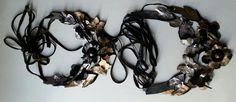 "Leather necklace ""i giardini d'inverno"" www.facebook.com/mari.lene.design"