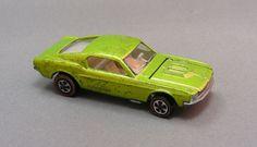 Vintage Hot Wheels Redline diecast toy Custom Mustang in Antifreeze! $99