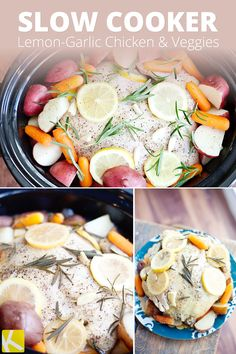 Lemon Garlic Slow Cooker Chicken | Recipe | Slow Cooker Chicken ...