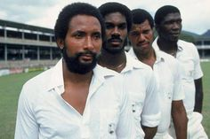 'The Fast and the Furious': The West Indian bowlers who terrorised a generation. Andy Roberts, Michael Holding, Malcolm Marshall, and Joel Garner ('The Fearsome Foursome! T20 Cricket, Cricket Bat, Cricket Sport, One Day Cricket, World Cricket, Fearsome Foursome, Fast Bowling, Mens World Cup, Horsemen Of The Apocalypse