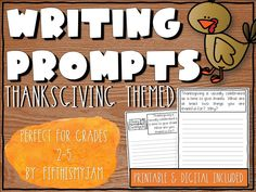 Teacher Freebies, Teacher Resources, Elementary Teacher, Upper Elementary, 6th Grade Activities, Thanksgiving Writing, Writing Prompts For Kids, Classroom Organization, Creme