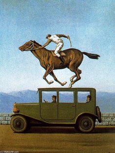 Rene Magritte. La ira de los Dioses. Óleo, reproducción