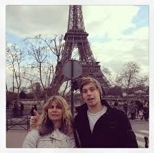 Liz and Luke at the Eiffel tower