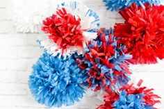 Hey Let's Make Stuff has some great 4th July crafts including these tissue paper fireworks. Make a bunch and hang them in your home for the ultimate exciting decor.