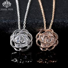 Jessie Pepe Italina Elegant Rose Flower Pendant Necklace For Women Wholesale Top Quality Free Shipping #JP76699