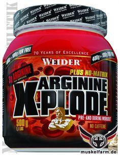 Weider Arginin X-Plode Pre-Workout Supplement ist ein Aminosäuren Getränkepulver mit L-Arginine, optimiert mit Ornithin, Tyrosin, Lysin und PTK.