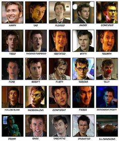 The many faces of the tenth doctor