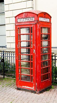 Belfast   Red Telephone Box In Poor Condition #Belfast #Ireland pinned with #Bazaart - www.bazaart.me