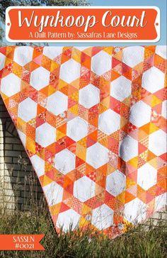Wynkoop Court - PDF Quilt Pattern – Sassafras Lane Designs uses fat quarters Hexagon Quilt Pattern, Quilt Patterns, Sewing Patterns, Sewing Ideas, Tatting Patterns, Pattern Fabric, Block Patterns, Quilting Tutorials, Quilting Projects