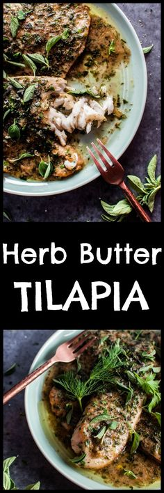If you're looking for a fast, elegant, and easy fish recipe, look no further! Tilapia with a lemon herb butter pan sauce is the perfect fuss-free weeknight recipe because it takes less than 20 minutes!