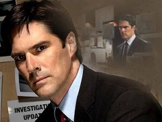 Aaron Hotchner (Played by (Thomas Gibson)  Season one: Supervisory Special Agent.  Season two, three & four: FBI Unit Chief  Season five: Supervisory Special Agent.  Season six: FBI Unit Chief  Criminal Minds. Yummy!