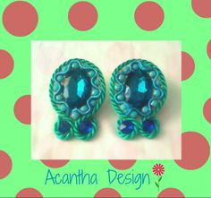 #Earrings #Zarcillos #Accesorios #hechoamano Ice Tray, Design, Ear Studs, Handmade, Accessories, Design Comics