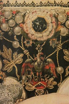 Jewellery detail of Queen Elizabeth I, attributed to Nicholas Hilliard, about 1572-5