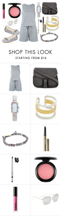 """Late mornings"" by hillarymaguire ❤ liked on Polyvore featuring T By Alexander Wang, Rebecca Minkoff, Marc Jacobs, Maya Magal, Gorjana, Trish McEvoy, MAC Cosmetics, LORAC, Linda Farrow and Sam Edelman"