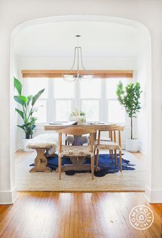 Rumi Neely's Dining Room {love the plants}