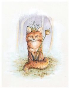 """Fiona the Fox Queen,"" available on Etsy <3"