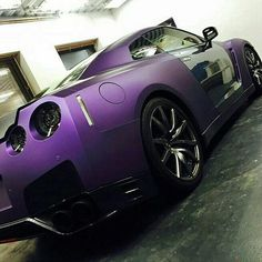 Sick Nissan #GTR with a matte purple wrap. Fantastic work by @wrapstyle #MakeitStick #PaintisDead