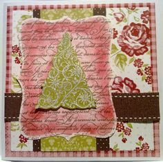 bella christmas by beetle76 - Cards and Paper Crafts at Splitcoaststampers - like the embossing on patterned paper