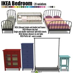 IKEA-like Bedroom by Sandy at Around the Sims 4 via Sims 4 Updates