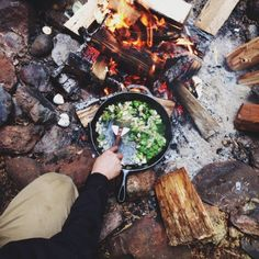 Love to make my own food while camping ☕