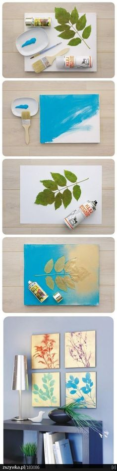 Love this wall art. Simple concept that can work for any home. Use different plants, flowers, branches, colors, etc.