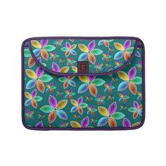 Colorful Bead Flowers Pattern Macbook Sleeve