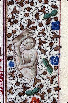 """Sciapod on margin of """"Heures à l'usage des Antonins"""" attributed to the """"Maître du Prince de Piémont"""""""