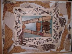 """mod podge and wine cork letter """"A"""" wall hanging"""